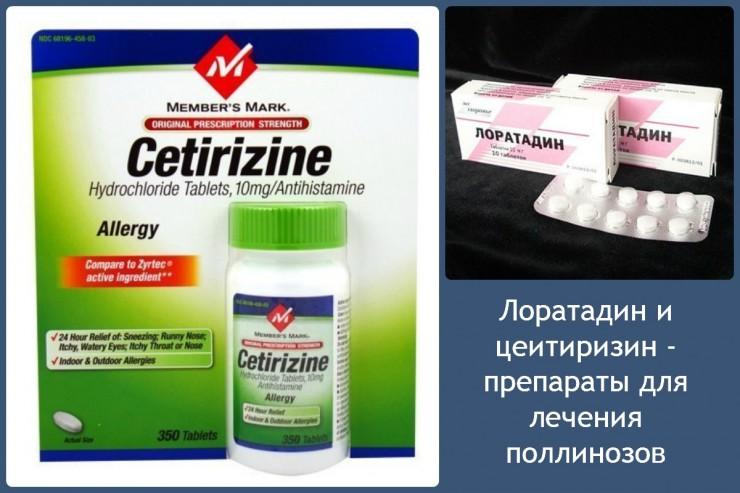 Лоратадин и цеитиризин - препараты для лечения поллинозов