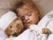 Ребёнок с кишечным гриппом в постели