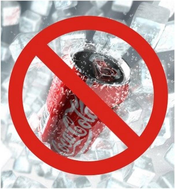 Банка кока-колы перечеркнута запретом