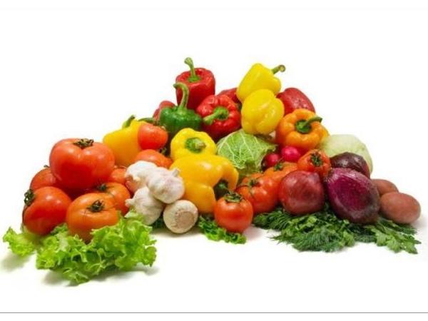 овощи: помидоры, перец, чеснок, зелень, капуста, лук