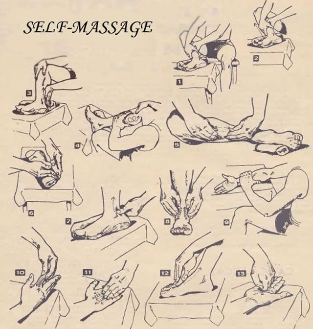 Различные виды массажа при подагре