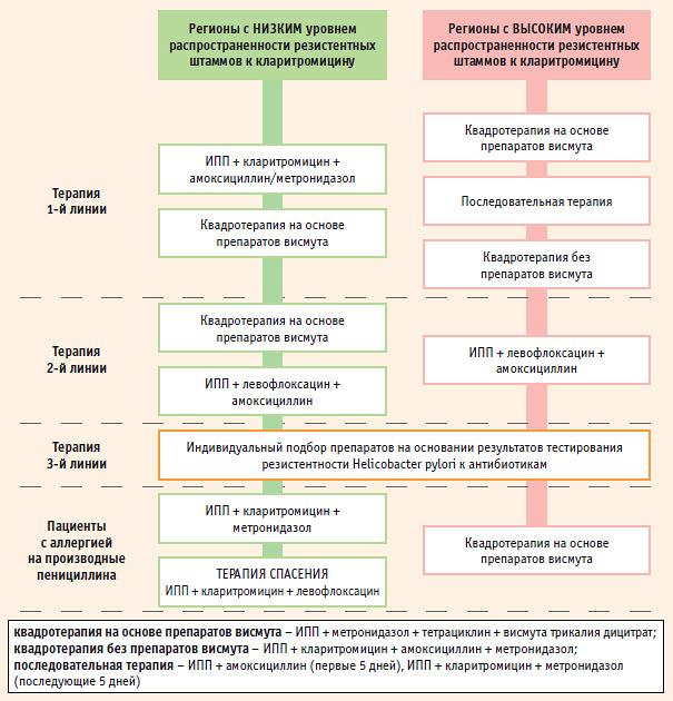 Схема эрадикации бактерии