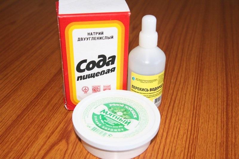 Отбеливание зубов в домашних условиях с перекисью и содой