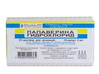 Папаверина гидрохлорид в ампулах