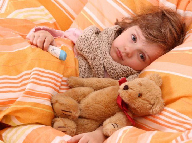 Ребёнок с гриппом