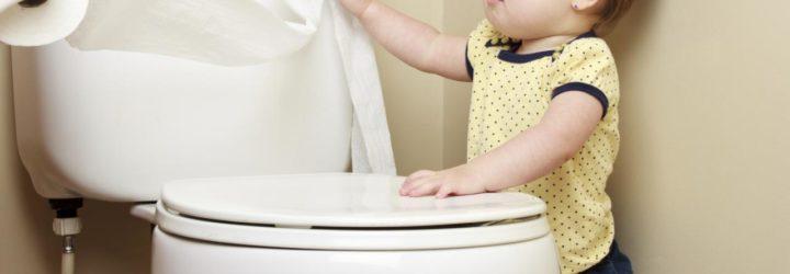 Ребёнок и туалетная бумага