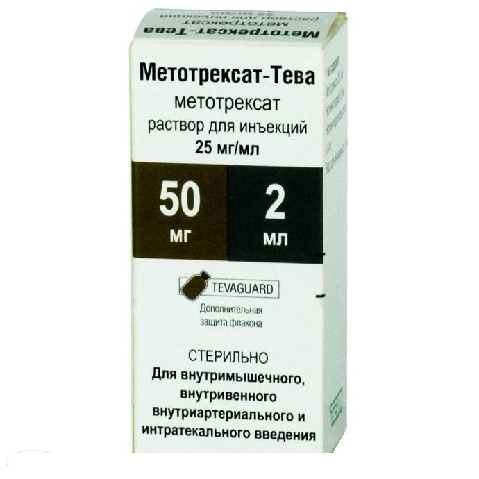 Метотрексат в форме инъекционного раствора