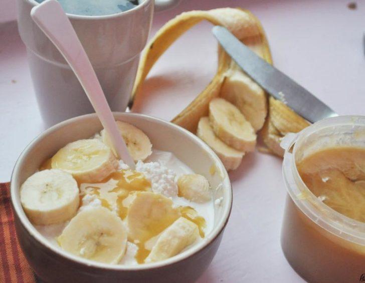 Творожно-банановая смесь
