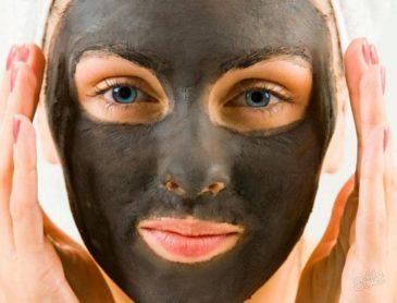Черная маска для лица с активированным углем