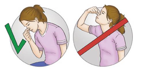 Что делать запрещено при носовом кровотечении