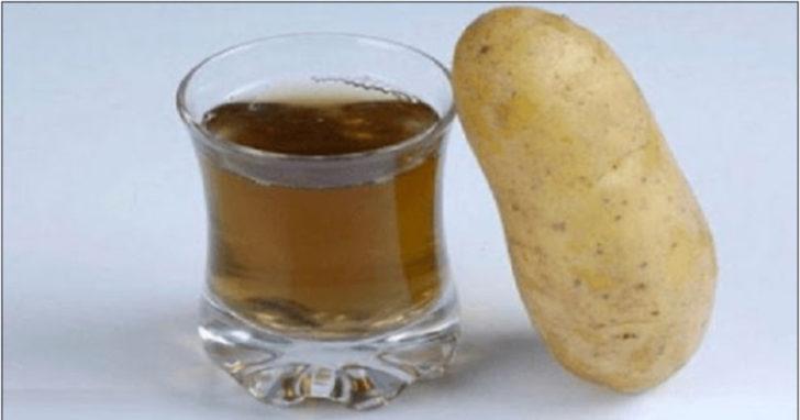 Сок из сырого картофеля