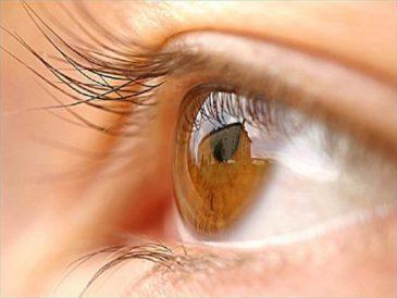 Глаз карий