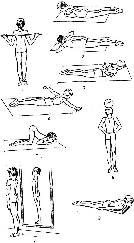 упражнения от кифоза картинки штатных фар