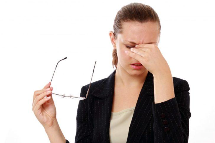 Падение остроты зрения