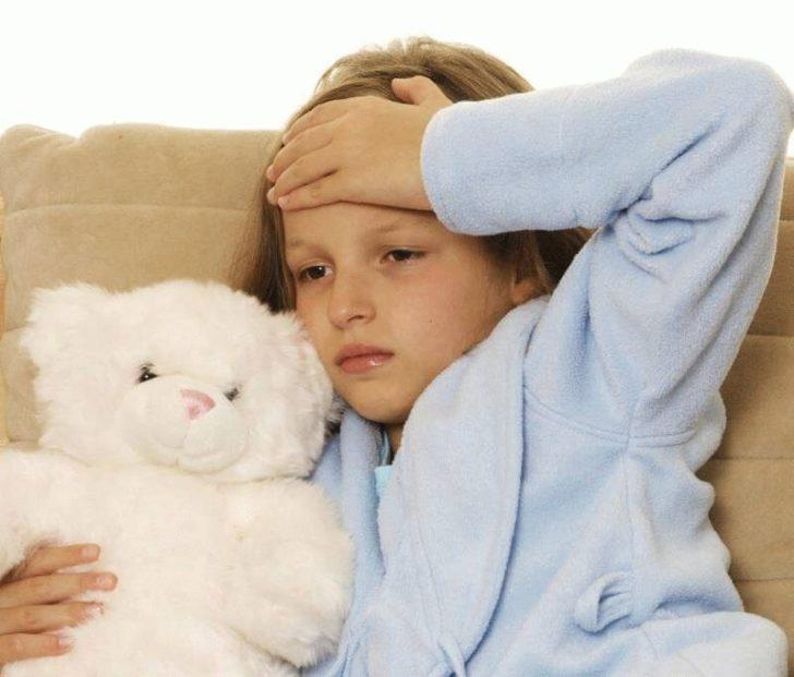 У ребёнка мигрень
