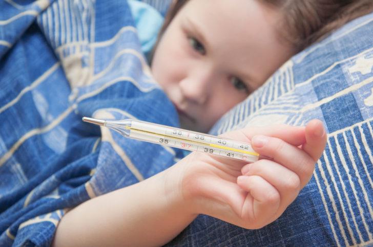 У ребенка повышенная температура