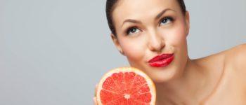 грейпфрут и женщина