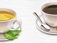 Некрепкий чай и кофе