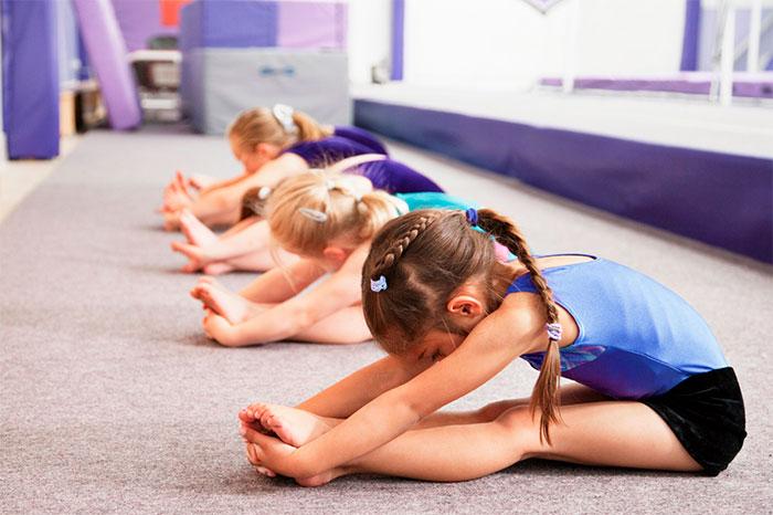 Дети на занятии гимнастикой