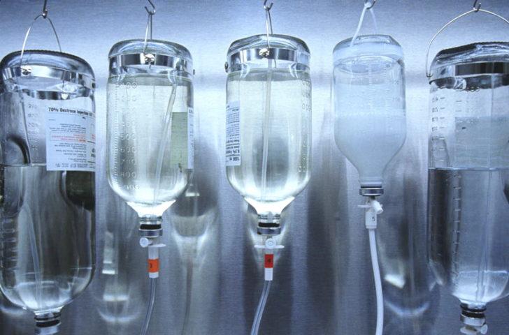 Флаконы с растворами для инфузионной терапии