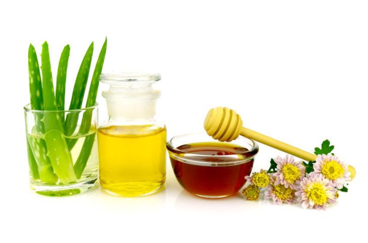Алоэ, мёд и оливковое масло