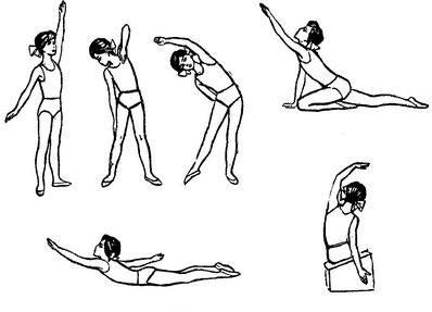 Гимнастика при грудопоясничном сколиозе: иллюстрация к списку упражнений