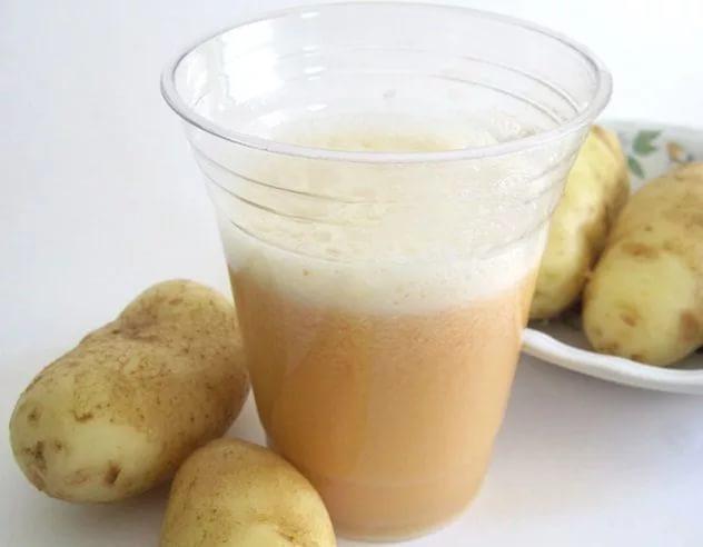 Свежевыжатый картофельный сок