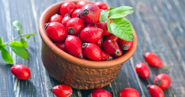 Пиала с ягодами шиповника