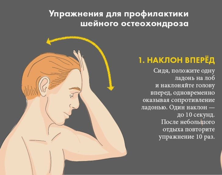 Упражнения при остеохондрозе шейно грудного отдела позвоночника