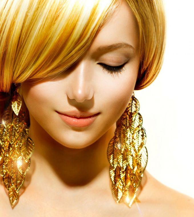 Волосы золотистого оттенка