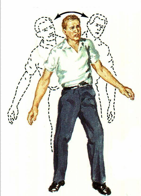 Человек с атаксией нетвёрдо стоит на ногах