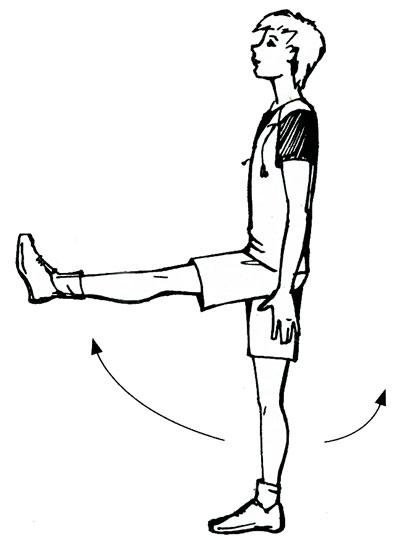 Ходьба на прямых ногах