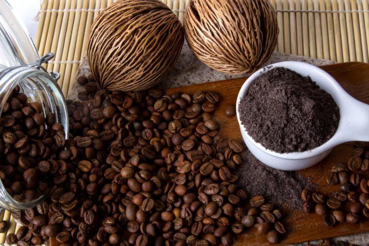 Измельчённые кофейные зёрна