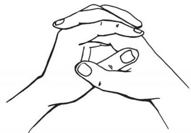 Разминка для пальцев рук: схема