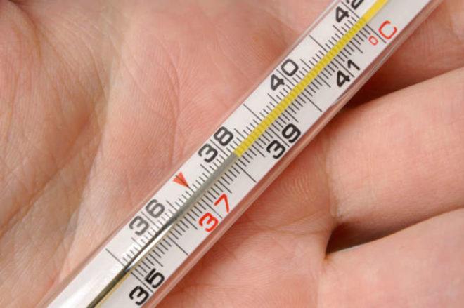 Термометр на ладони