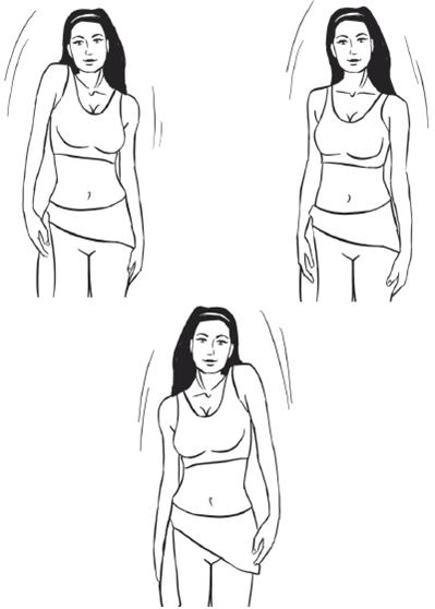 Упражнение подъём плеч: схема