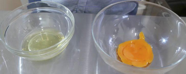 Яичный белок и желток