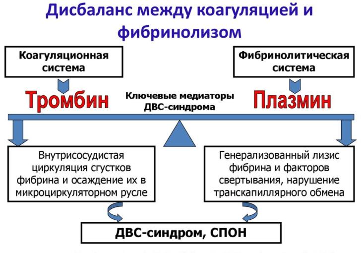 ДВС-синдром (схема)