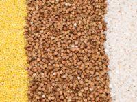 пшено, гречка, рис