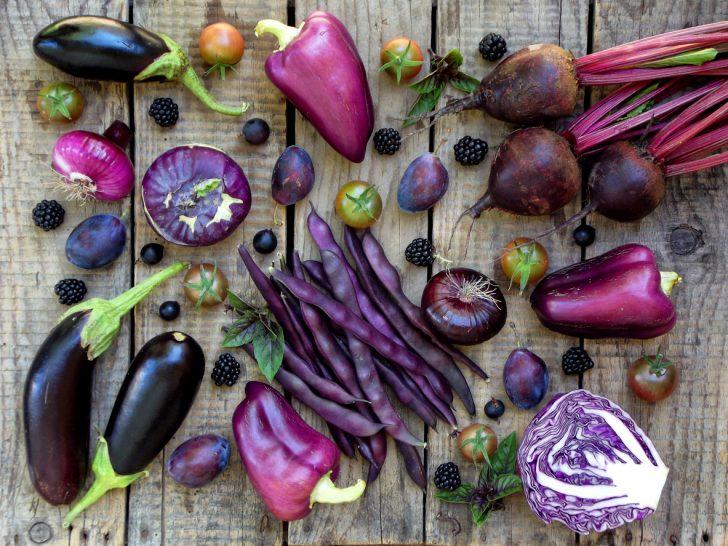 Фрукты, ягоды, овощи фиолетового цвета