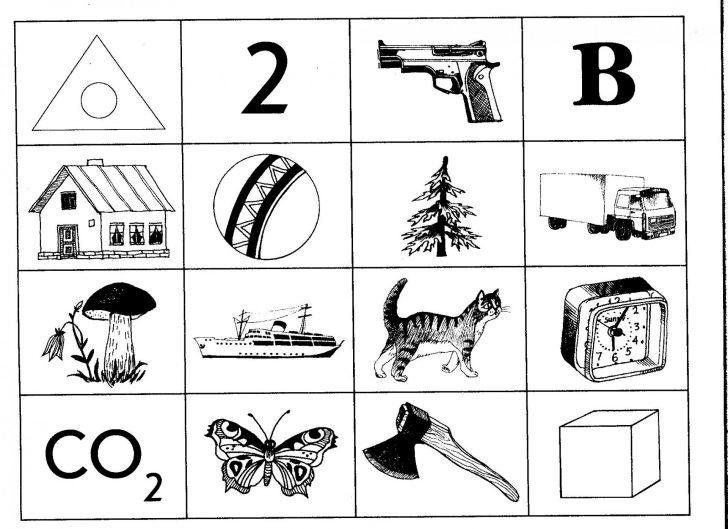 Карточки для диагностики образной (визуальной) памяти