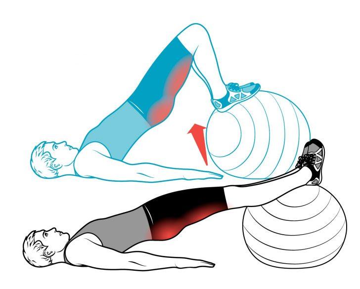 Упражнение на фитболе при недержании мочи