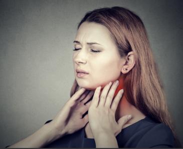 Боль в горле у женщины